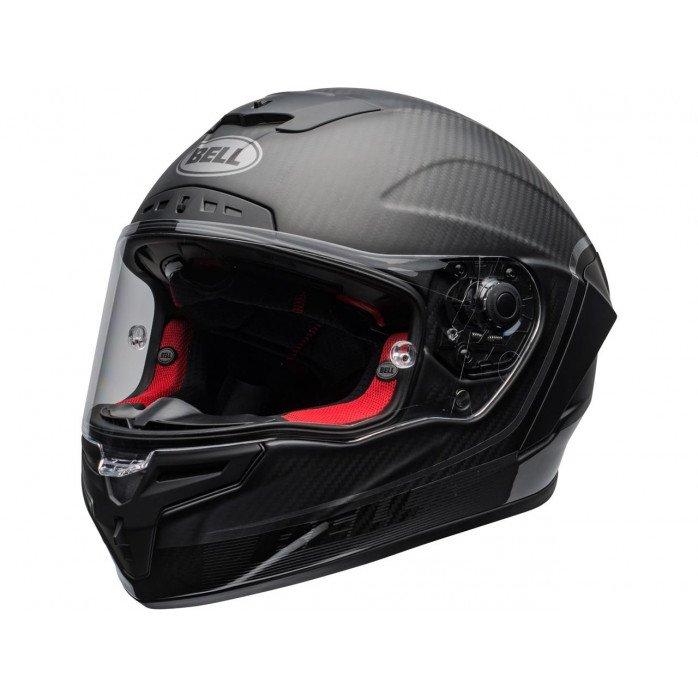 BELL Race Star Flex DLX Helmet Velocity Matte/Gloss Black Size XS