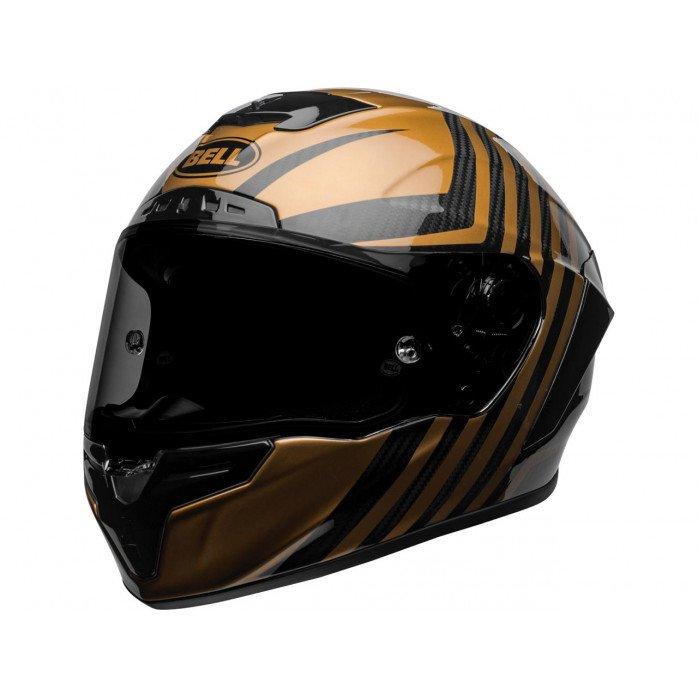 BELL Race Star Flex DLX Helmet Mate/Gloss Black/Gold Size XL