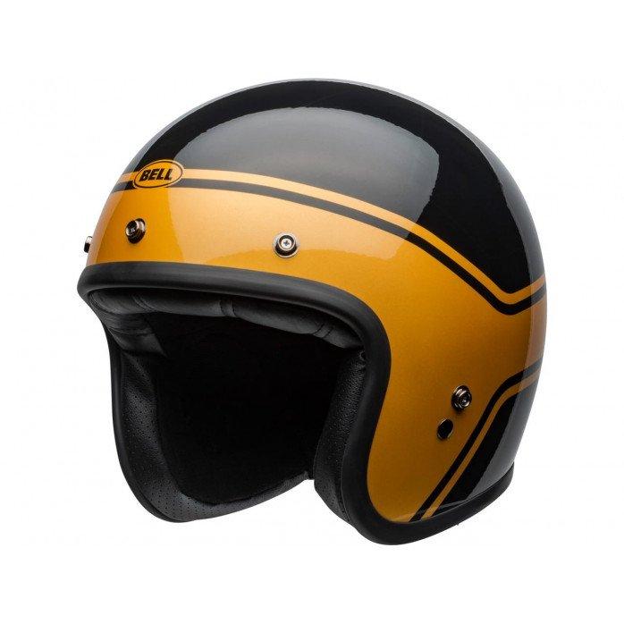 BELL Custom 500 DLX Helmet Streak Gloss Black/Gold Size XL