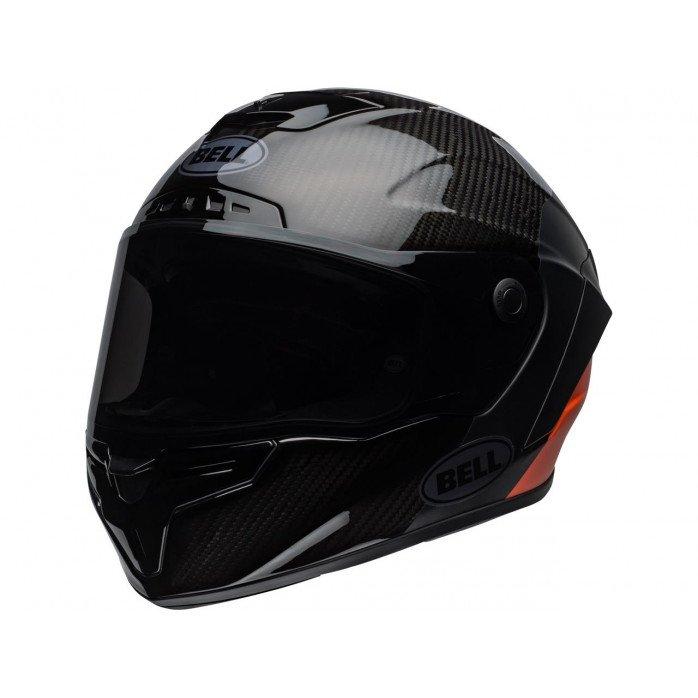 BELL Race Star Flex Helmet Carbon Lux Matte/Gloss Black/Orange Size XS