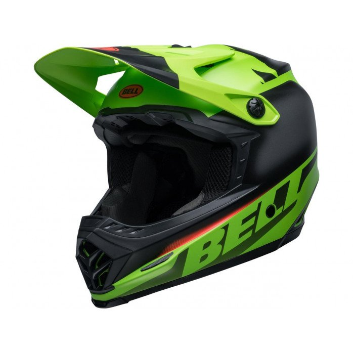 BELL Moto-9 Youth Mips Helmet Glory Green/Black/Infrared Size YL/YXL