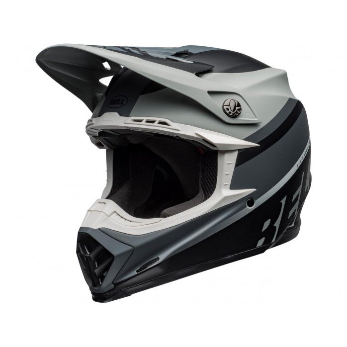 BELL Moto-9 Mips Helmet Prophecy Matte Gray/Black/White Size L