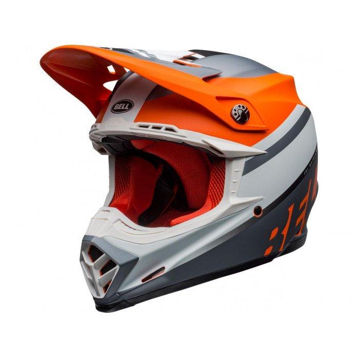 BELL Moto-9 Mips Helmet Prophecy Matte Orange/Black/Gray Size S