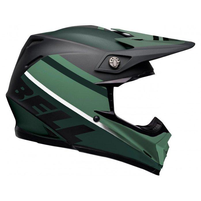 BELL Moto-9 Mips Helmet Prophecy Matte Black/Dark Green Size L