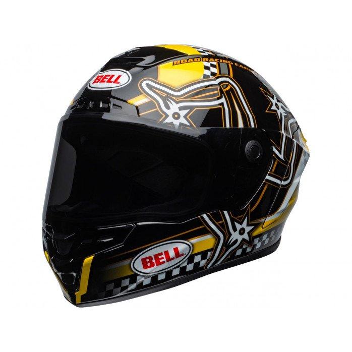 BELL Star DLX Mips Helmet Isle of Man 2020 Gloss Black/Yellow Size L