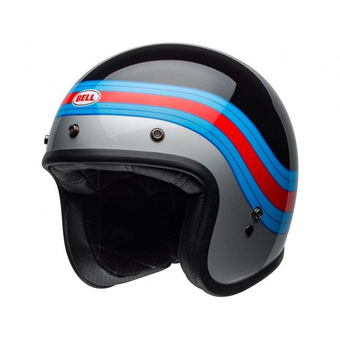 BELL Custom 500 DLX Helmet Pulse Gloss Black/Blue/Red Size S