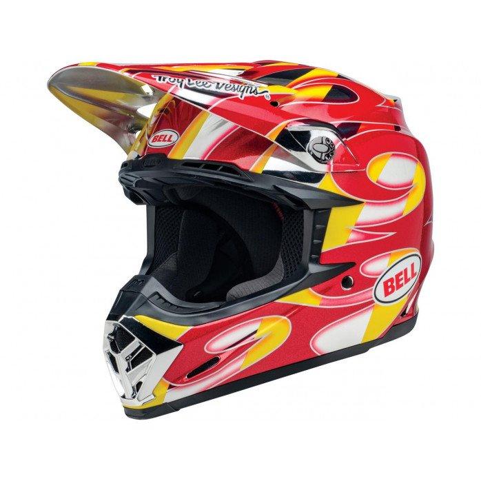 BELL Moto-9 Mips Helmet McGrath Replica Gloss Red/Yellow/Chrome Size S