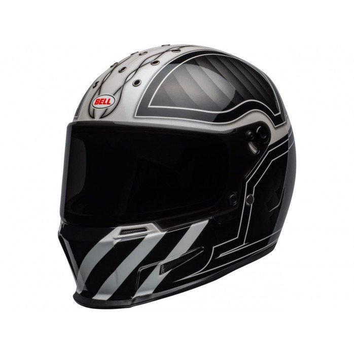 BELL Eliminator Helmet Outlaw Gloss Black/White Size S