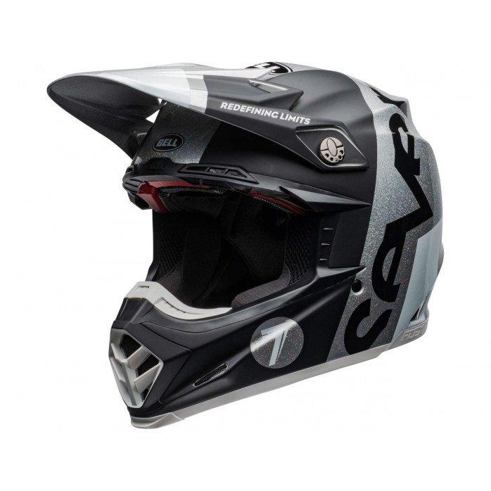 BELL Moto-9 Flex Helmet Seven Galaxy Black/Silver Size XL