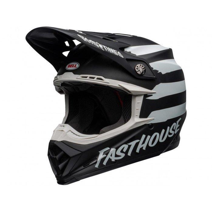 BELL Moto-9 Mips Helmet Fasthouse Signia Matte Black/Chrome Size XL