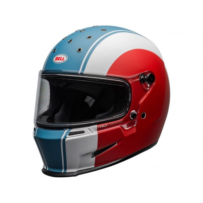 BELL Eliminator Helmet Slayer Matte White/Red/Blue Size M/L