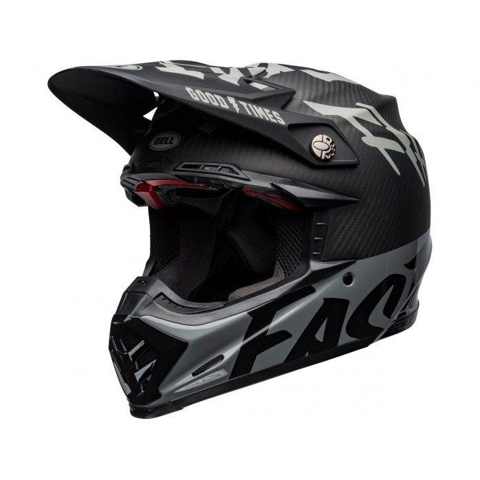 BELL Moto-9 Flex Helmet Fasthouse WRWF Black/White/Gray Size S