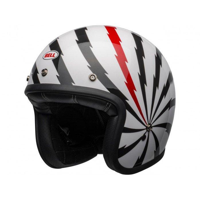 BELL Custom 500 DLX SE Helmet Vertigo Gloss White/Black/Red