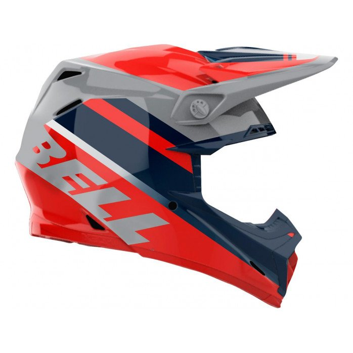 BELL Moto-9 Mips Helmet Prophecy Gloss Infrared/Navy/Gray Size L
