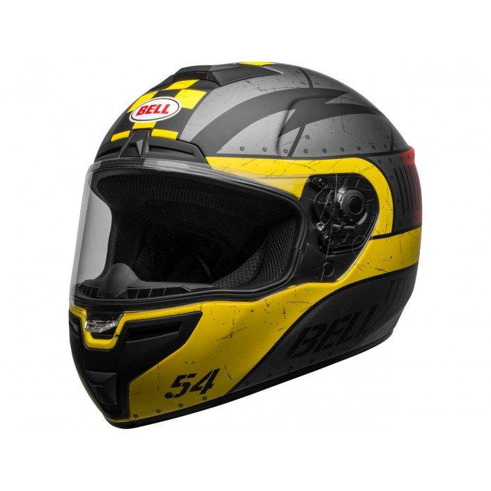 BELL SRT Helmet Devil May Care Matte Gray/Yellow/Red Size XXL