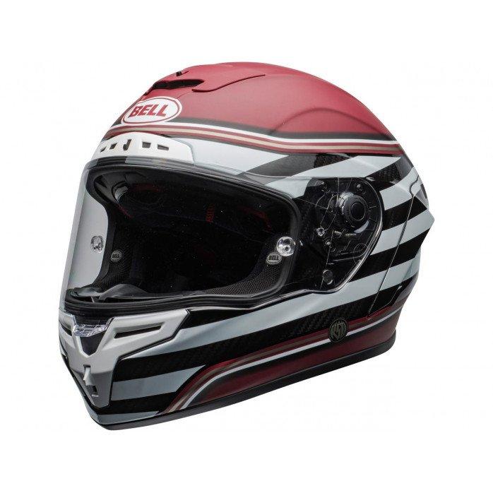 BELL Race Star Flex DLX Helmet RSD The Zone Matte/Gloss White/Candy Red Size XL