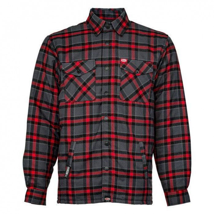 BELL Dixxon Flannel Jacket Grey/Red Size M