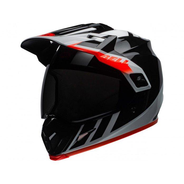 BELL MX-9 Adventure Mips Helmet Dash Gloss Black/White/Orange Size XS