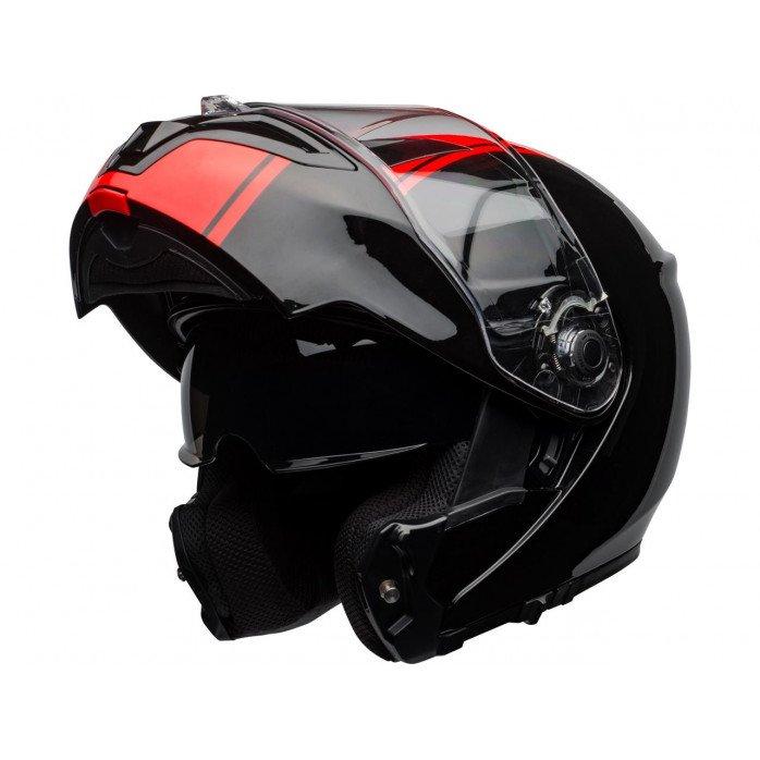 BELL SRT Modular Helmet Ribbon Gloss Black/Red Size S