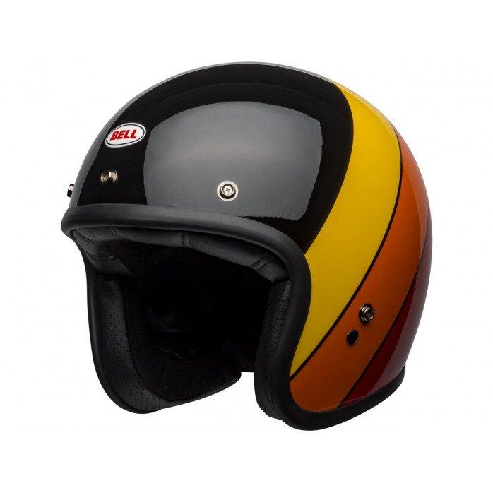 BELL Custom 500 DLX Helmet Riff Gloss Black/Yellow/Orange/Red