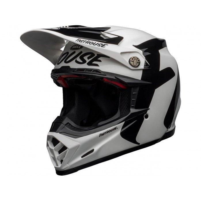 BELL Moto-9 Flex Helmet Fasthouse Newhall Gloss White/Black Size XS