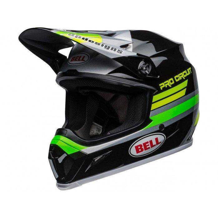 BELL MX-9 Mips Helmet Pro Circuit 2020 Black/Green Size XL