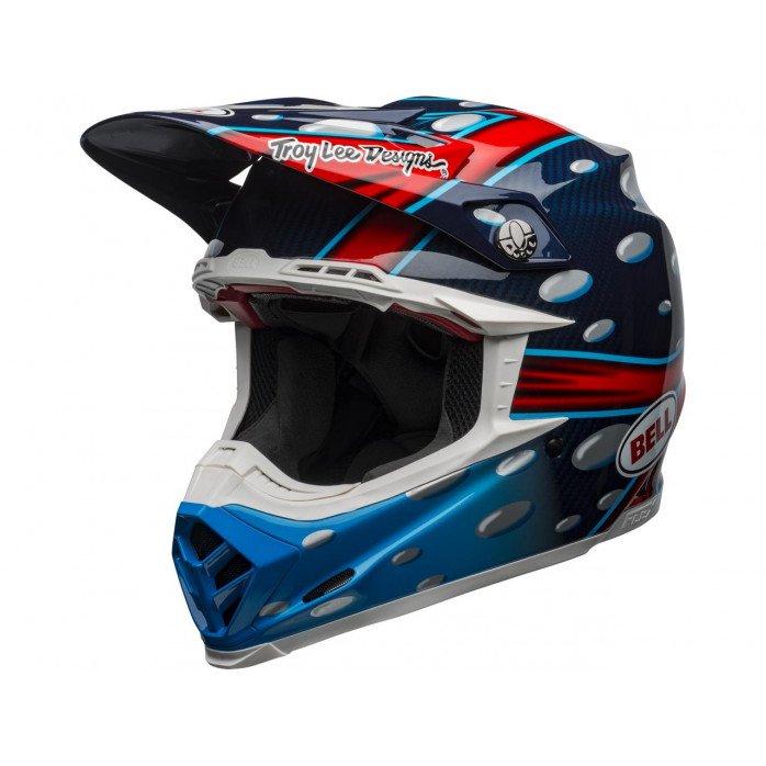 BELL Moto-9 Flex Helmet McGrath Replica Gloss Blue/Red/Black Size XS