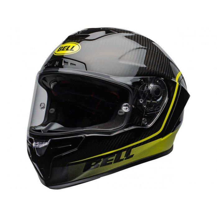 BELL Race Star Flex DLX Helmet Velocity Matte/Gloss Black/Hi Viz Size L