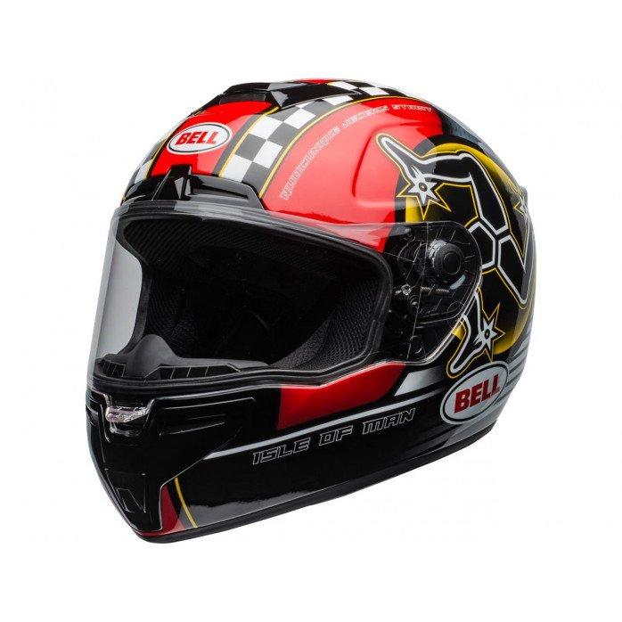 BELL SRT Helmet Isle of Man 2020 Gloss Black/Red Size S