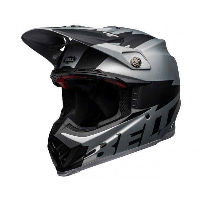 BELL Moto-9 Flex Helmet Breakaway Matte Silver/Black Size M