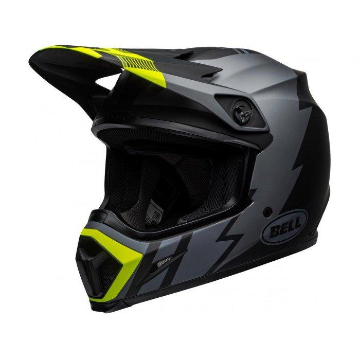 BELL MX-9 Mips Helmet Strike Matte Gray/Black/Hi Viz Size XL