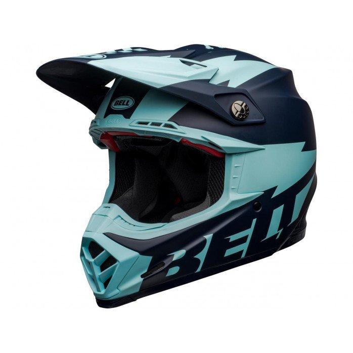 BELL Moto-9 Flex Helmet Breakaway Matte Navy/Light Blue Size L