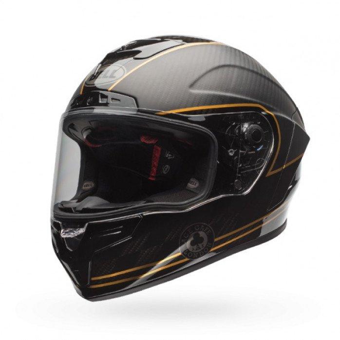 BELL Race Star Flex Helmet Ace Cafe Matte Black/Gold Size XS