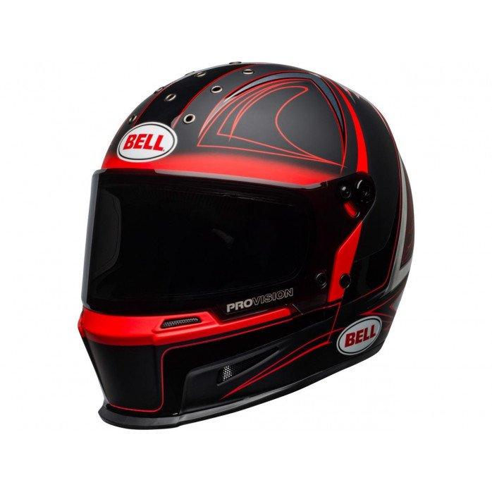 BELL Eliminator Hart Luck Helmet Matte/Gloss Black/Red/White Size L