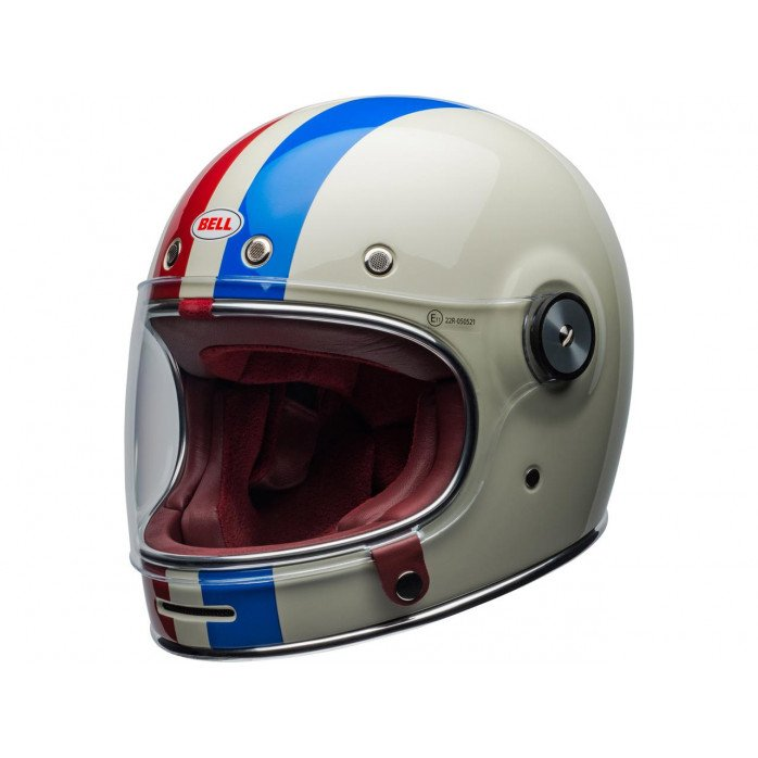 BELL Bullitt DLX Helmet Command Gloss Vintage White/Red/Blue Size M