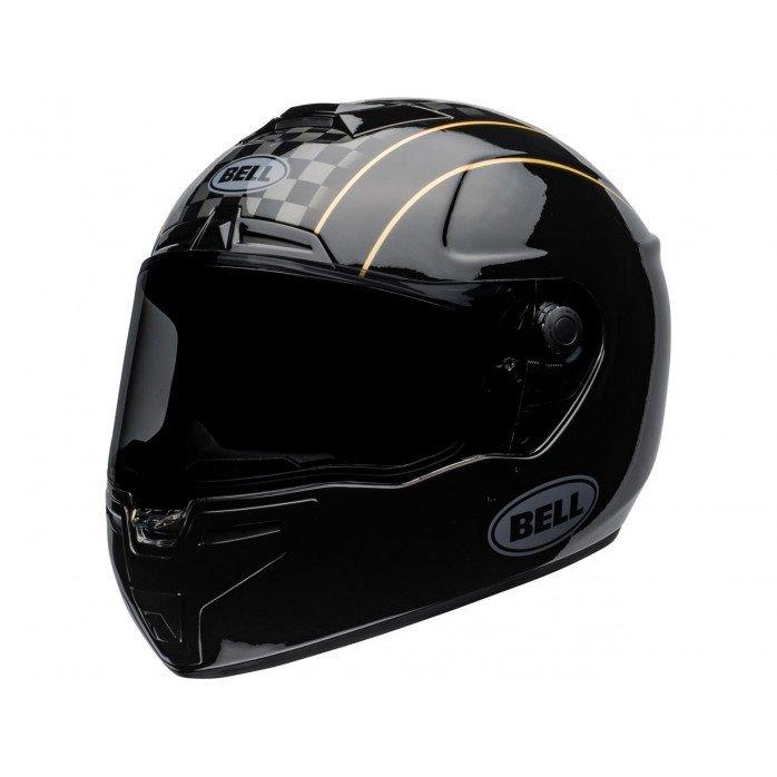 BELL SRT Helmet Buster Gloss Black/Yellow/Grey Size L