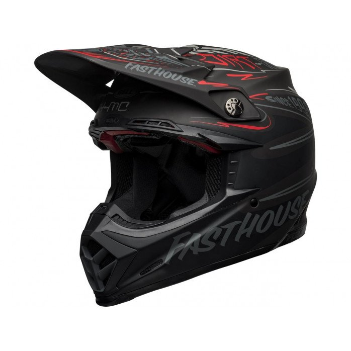 BELL Moto-9 Flex Helmet Fasthouse DID 21 Matte Black/Gray/Red
