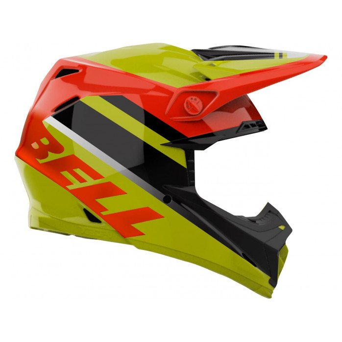 BELL Moto-9 Mips Helmet Prophecy Gloss Yellow/Orange/Black Size M