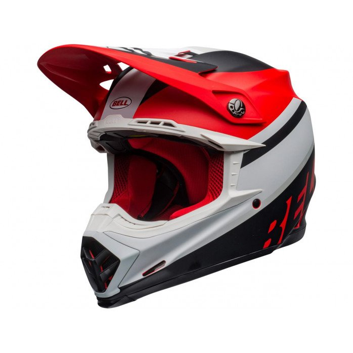 BELL Moto-9 Mips Helmet Prophecy Matte White/Red/Black Size L