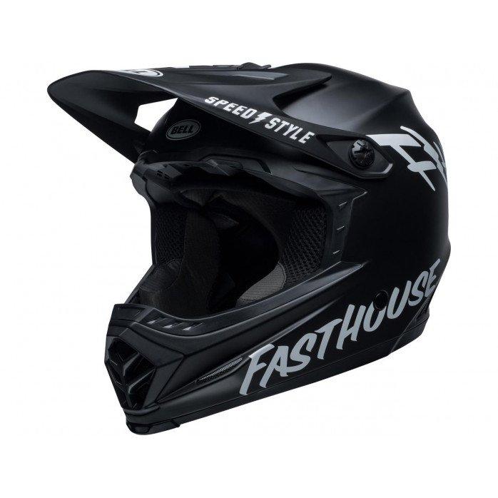 BELL Moto-9 Youth Mips Helmet Fasthouse Matte Black/White Size L/XL