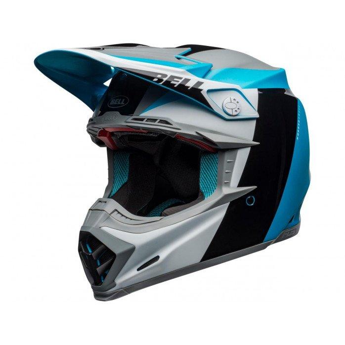 BELL Moto-9 Flex Helmet Division White/Black/Blue Size S