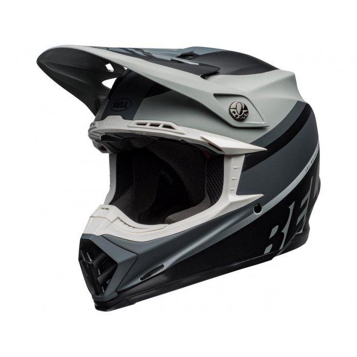 BELL Moto-9 Mips Helmet Prophecy Matte Gray/Black/White Size M